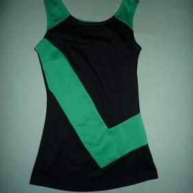 Černo zelená tunika Orsay - foto č. 1
