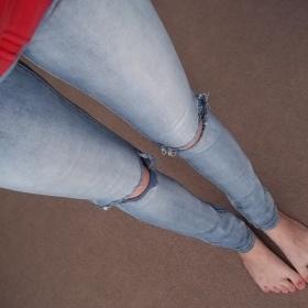 Světle modré džíny Asos - foto č. 1