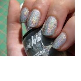 Sv. šedý  holografický lak na nehty Arley - foto č. 1