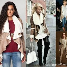 Béžový / hnědý  kabátek Bershka - foto č. 1