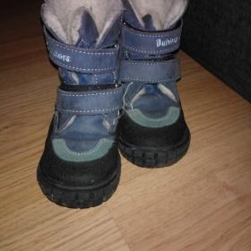 Modr� zimn� boty Ba�a - foto �. 1