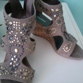 Khaki/šedé boty Graceland - foto č. 1