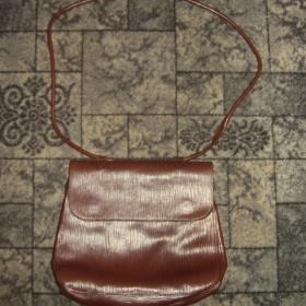 Hnědá vzorkovaná kabelka neznačková - foto č. 1