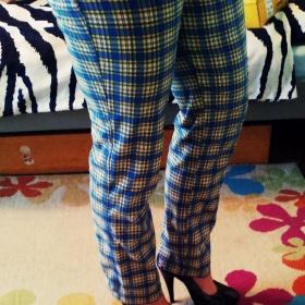 Kárované kalhoty neznačkové - foto č. 1