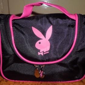 Růžovočerná kosmetická taštička Playboy - foto č. 1