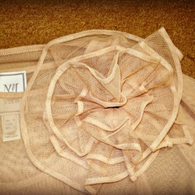 Meruňkovo - růžové triko s mašlí Mango jeans - foto č. 1