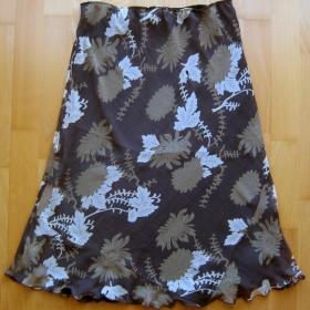 Reserved - delší hnědá sukně - foto č. 1