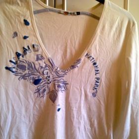Bílo-modré triko Gas - foto č. 1