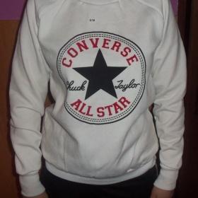 Bílá mikina Converse - foto č. 1