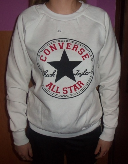 Bílá mikina Converse - Bazar Omlazení.cz e0b00f3077