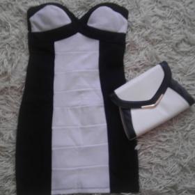 Černobílé  šaty Tally Weijl+psaníčko New Look Tally Weijl - foto č. 1