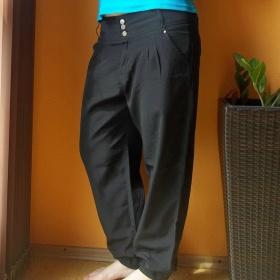 Černé harémové kalhoty Takko - foto č. 1