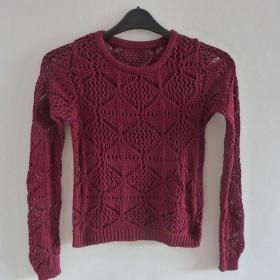 Vínový dámský svetr Zara - foto č. 1