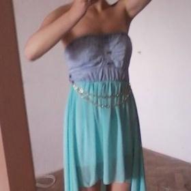 Mentolové šaty Tally weijl - foto č. 1