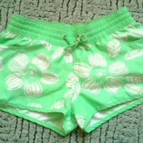 Zelená, bílá kraťasy koupací Fishbone - foto č. 1