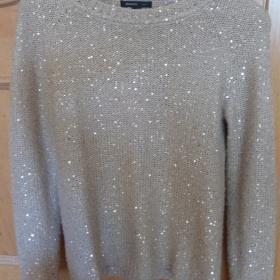 Zlatý svetr s flitrama Orsay - foto č. 1