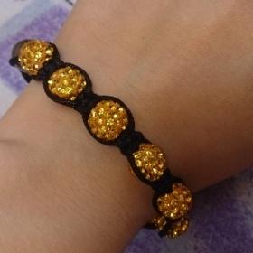 Zlatý naramek Shamballa - foto č. 1