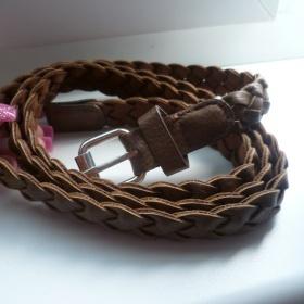 Hnědý pletený pásek Takko - foto č. 1