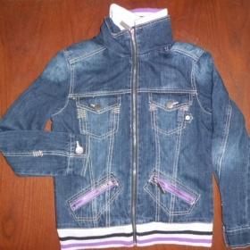 Modrá dívčí džínová bunda Takko - foto č. 1