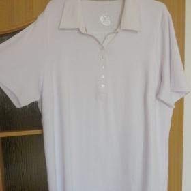 Bílé bavlněné tričko Tchibo - foto č. 1