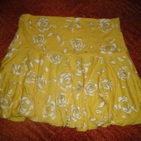 žlutá  sukně neznačková - foto č. 1
