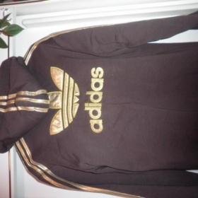 Hnědo - zlatá mikina Adidas - foto č. 1