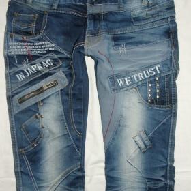 Modré prpracované jeans Japrag - foto č. 1
