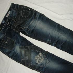 Tmavě modré  bokové jeansy Japrag - foto č. 1