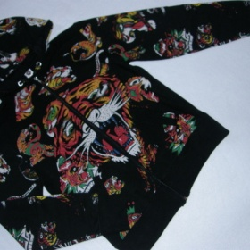 Černá barevná mikina s kapucí Ed hardy - foto č. 1