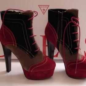 šedé červené černé boty BF - foto č. 1