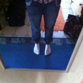 Jeansy se širším sedem Nohavice na gumičku - foto č. 1