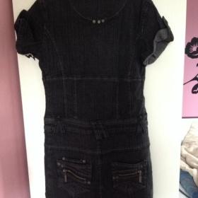 Černé džínové šaty Brooker - foto č. 1
