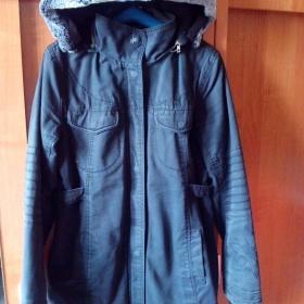 Tmavě šedý zimní kabát Oxbow - foto č. 1