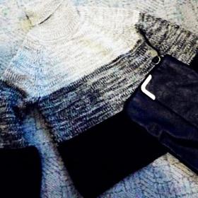 šedý svetr Hm - foto č. 1