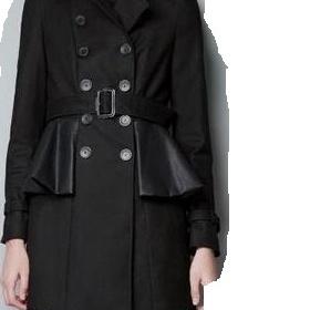 Černý kabát Zara - foto č. 1