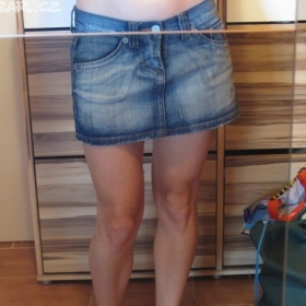 Modrá riflová mini sukně Terranova - foto č. 1