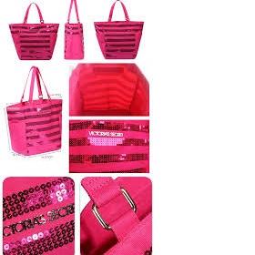 Růžová taška kabelka XXL shooper Victoria's Secret - foto č. 1