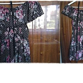 Květované  Šaty s volány New yorker - Amisu - foto č. 1