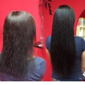 Tmavě hnědé brazilské vlasy keratin neznačková - foto č. 1