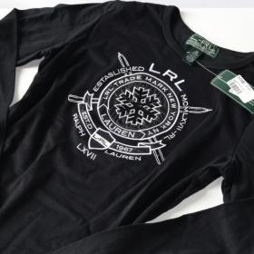 Černé tričko Ralph lauren - foto č. 1