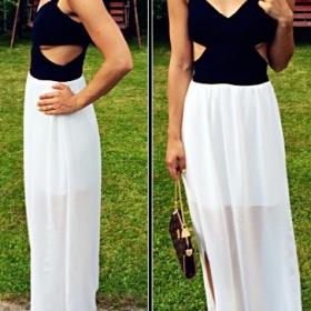 Černé dlouhé šaty Made in Italy - foto č. 1