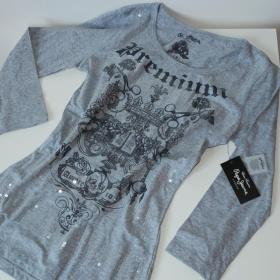 Šedé triko Pepe Jeans - foto č. 1