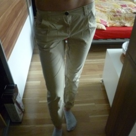 Sv�tle hn�d� kalhoty Takko - foto �. 1