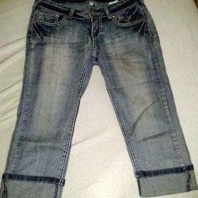 Modr� 3/4 kalhoty Fishbone - foto �. 1