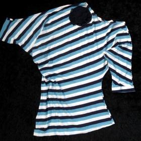 Bílo - modré tričko neznačkové - foto č. 1