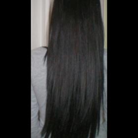 Tmavě hnědé vlasové pásky Profibeauty - foto č. 1