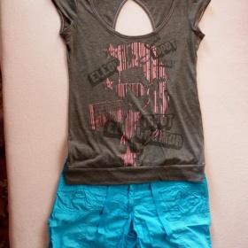Šedé tričko s dírou na zádech C&A - foto č. 1