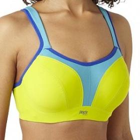 Žluto - modrá sportovní podprsenka Sport Lime Multi Panache - foto č. 1