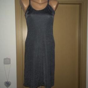 Šedé šaty na ramínka Merri & Me - foto č. 1