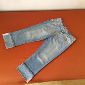 3/4 džíny světlé neznačkové - foto č. 1